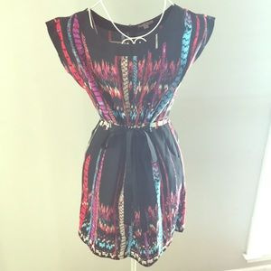 Mini dress - multi color